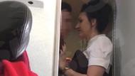 Uçak tuvaletinde ilişkiye girerken hostese yakalandılar!