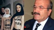 Başını örtmeyen kızlara laf eden Yaşar Demir'e Femen'den olay yanıt