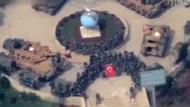 Mehmetçiğin Afrin'deki zafer kutlaması havadan görüntülendi