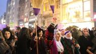Kadınlardan İstiklal Caddesi'nde 8 Mart yürüyüşü