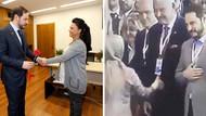 Sare Davutoğlu ile tokalaşmayan Berat Albayrak bu kez şaşırttı