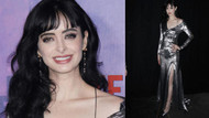 Krysten Ritter Jessica Jones dizisinin galasında güzelliğiyle büyüledi