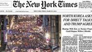 Taksim'deki kadın yürüyüşü New York Times'ın manşetinde