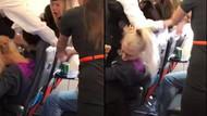 Dansçı kadınlar uçağı birbirine kattı!
