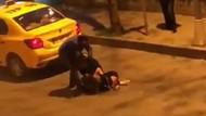 Beşiktaş'ta iki kadın saç saça baş başa kavga etti