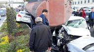 Başakşehir'de tanker dehşeti: Caddeyi savaş alanına çevirdi