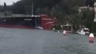 İşte Boğaz'daki tanker kazasının en net videosu