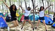 Gençler festival için İzmir'de