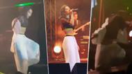 Inna İstanbul konserinde sahneden yere düştü