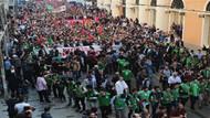 İstiklal Caddesi'nde protestocular Filistin için toplandı