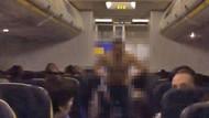 Uçakta çıplak yolcu şoku! Bir anda kıyafetlerini çıkardı ve…