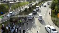 Trafik kazası sonrası levye ve beyzbol sopalı kavga