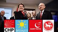 Muhalefet ittifakta anlaştı! CHP, İYİ Parti, SP, DP