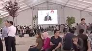 Erdoğan dünkü toplantı öncesi konuşma yapacaktı, alan boş olduğu için yapmadı