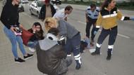 Genç kızın pardesüsümotosikletin tekerleğine sıkıştı: 2 yaralı