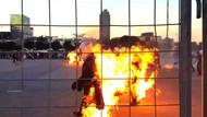 Dünya rekoru için 32 kişi aynı anda kendisini yaktı