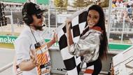 Formula 1'de kaos yaşandı, güzel model Winnie Harlow yarışı katletti