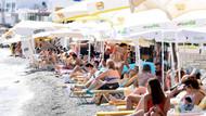 Bodrum'da şu an: Plajda şezlong atacak yer kalmadı