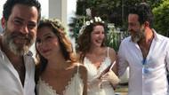 Bikem Öğünç Burak Demir çifti nikah masasında