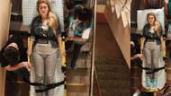 Hastanede tedavi gören 21 yaşındaki Eda Türk oyunu sedye üzerinde kullandı