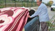 Sakarya'da vatandaş arabalarını doludan böyle korudu