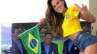 Ünlü Brezilyalı model Izabel Goulart tribünlerde