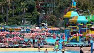 Su parkında zipline heyecanı