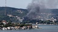 Beykoz'da korkutan yangın! Ünlü dizi orada çekiliyordu