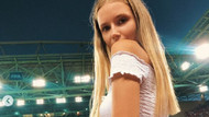 Rus model Polina Malinovskaya Dünya Kupası'nda