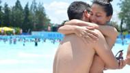 Komiser yardımcısı Ümmü Atılgan'a su parkında sürpriz evlenme teklifi