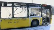 Vatan caddesinde otobüs yangını
