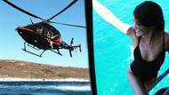 Türkan Şoray'ın kızı Yağmur helikopterden denize atladı!