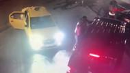 Taksicilerin UBER sürücüsüne aksiyon filmlerini aratmayan saldırısı
