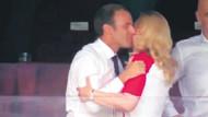 Dünya Kupası finaline damga vuran öpücük! Macron'un Kitarovic'i öpmesi sosyal medyayı salladı