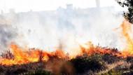 Bodrum'da çıkan yangın vatandaşları tehdit etti