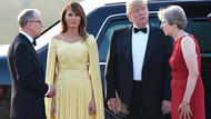 Melania Trump İngiltere'de giydiği kıyafetle dalga konusu oldu