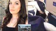 Genevieve Pascolla uçakta gözlerini açtığında sapığı cinsel organıyla oynarken yakaladı