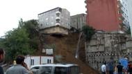 Son dakika: İstanbul'da 4 katlı bina böyle çöktü.. VİDEO