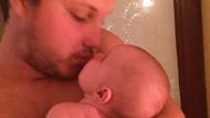 Yeni doğan bebeğini dudağından öpen babaya pedofili suçlaması