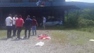 Akılalmaz kaza! Araçtan balkon saçağına uçtu