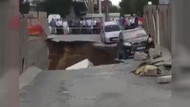 Ümraniye'de inşaat duvarının çökme anı kamerada