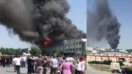 İstanbul'da fabrikada korkutan yangın!