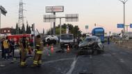Otoyolda kırmızı ışıkta duruyorlardı kamyon çarptı: 1 ölü 17 yaralı