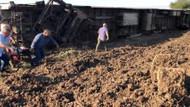 İBB iş makinelerini tren kazasının olduğu bölgeye gönderdi