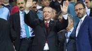 Erdoğan, Çaykur Rizespor Kasımpaşaspor maçında tribünde