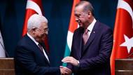 Cumhurbaşkanı Erdoğan'la görüşen Filistin Devlet Başkanı Mahmud Abbas'tan Türkiye'ye destek
