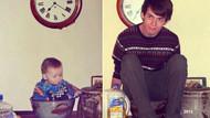 Çocukluk fotoğraflarını yeniden canlandıranlardan güldüren paylaşımlar