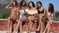 Cansu Tosun'un oyuncu arkadaşlarıyla plaj keyfi