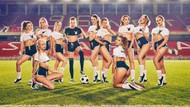 En güzel Rus modeller futbol takımı kurdu
