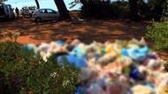 Tatilciler gitti, çöpleri kaldı! Çınar plajında çöp dağları oluştu